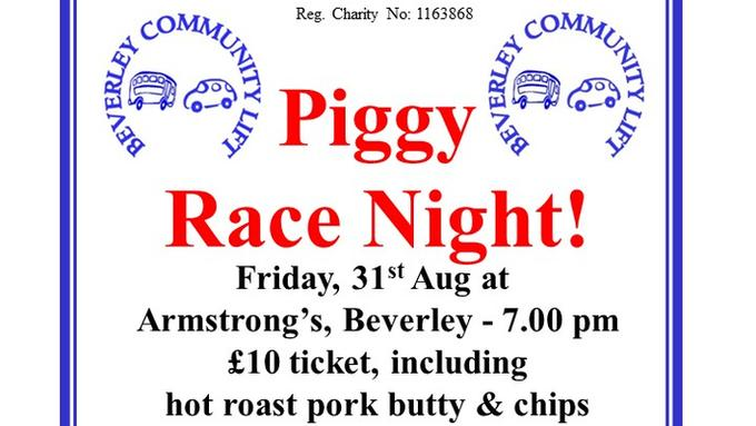 Piggy Race Night!